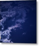 Cloudy Moon With Jupiter Metal Print