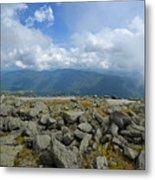 Cloudy Mount Washington Road Metal Print