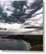 Cloudy Ocean View Metal Print