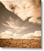 Cloudy Plain Metal Print
