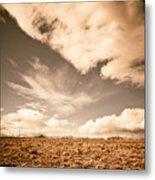 Cloudy Plain Metal Print