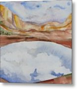 Cloudy Reflections Metal Print