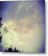 Cloudy Sky Before A Storm Metal Print