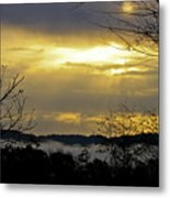 Cloudy Sunrise 1 Metal Print