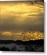 Cloudy Sunrise 3 Metal Print