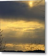 Cloudy Sunrise 4 Metal Print