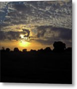 Cloudy Sunset Metal Print