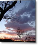 Cloudy Sunset One Metal Print