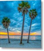 Cloudy Sunset -tampa, Florida Metal Print