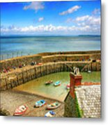 Clovelly Harbor In Devon, Uk Metal Print