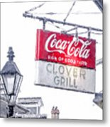 Clover Grill Coke Sign Metal Print