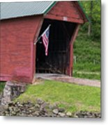 Clover Hollow Covered Bridge 01 Metal Print