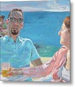 Clovis And Bethany At Tobacco Bay, Bermuda Metal Print