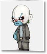 Clown Bank Robber Plush Metal Print