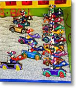 Clown Car Racing Game Metal Print