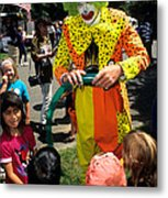 Clown Entertaining Kids Metal Print