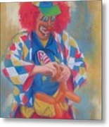 Clown Making Balloon Animals Metal Print
