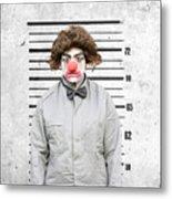 Clown Mug Shot Metal Print