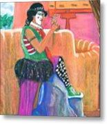 clown on Taos plaza Metal Print
