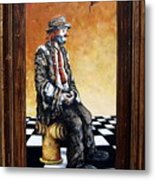 Clown S Melancholy Metal Print