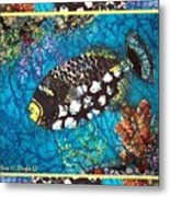 Clown Triggerfish-bordered Metal Print