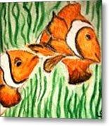 Clowning Fish Metal Print