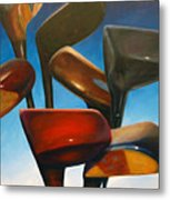 Clubs Rising Metal Print