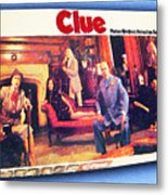 Clue Board Game Painting Metal Print