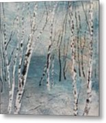 Cluster Of Birches Metal Print