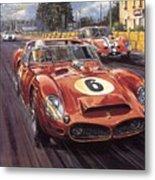 Cma 051 1962 Le Mans Ferrari 330 Driver Phil Hill Roy Rob Metal Print