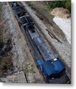Coal Crossing Metal Print