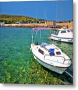 Coast And Beach Of Prvic Island Summer View Metal Print
