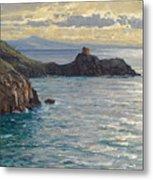Coast At Amalfi Metal Print