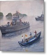 Coast Guard Cutters Pt Hudson And Pt Grace In Vietnam Metal Print