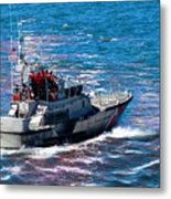 Coast Guard Out To Sea Metal Print by Aaron Berg