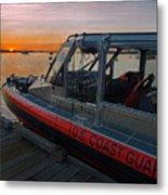 Coast Guard Response Boat At Sunset Metal Print
