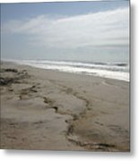 Coast Line Long Island Metal Print