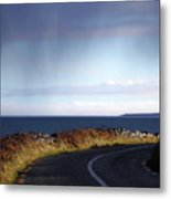 Coast Road  The Burren Metal Print