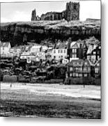 Coast - Whitby Abbey And Church Metal Print