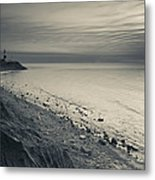 Coast With A Lighthouse Metal Print