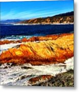 Coastal Abstraction Metal Print