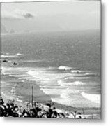 Coastal Bandw Metal Print