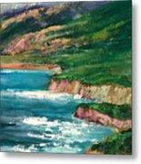 Coastal Coves Metal Print