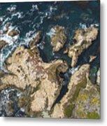 Coastal Crevices Metal Print