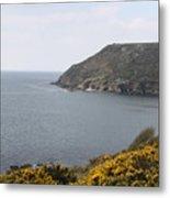 Coastal Path Cornwall Metal Print