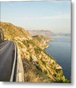 Coastal Road Near Dubrovnik In Croatia Metal Print