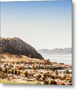 Coastal Tasmanian Town Metal Print