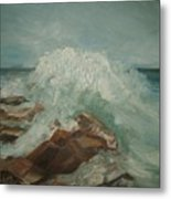 Coastal Waters Metal Print