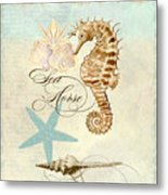 Coastal Waterways - Seahorse Rectangle 2 Metal Print