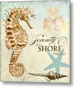 Coastal Waterways - Seahorse Serenity Metal Print